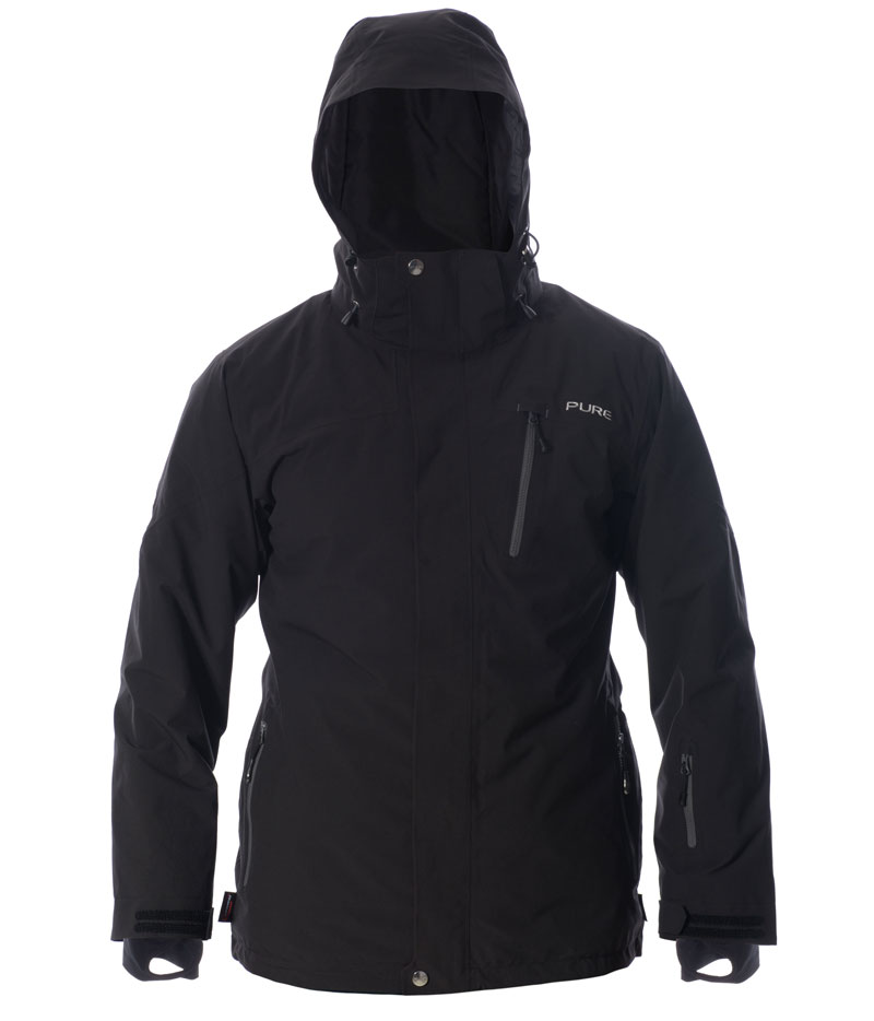 Telluride Men's Jacket - Black / Ebony Zips