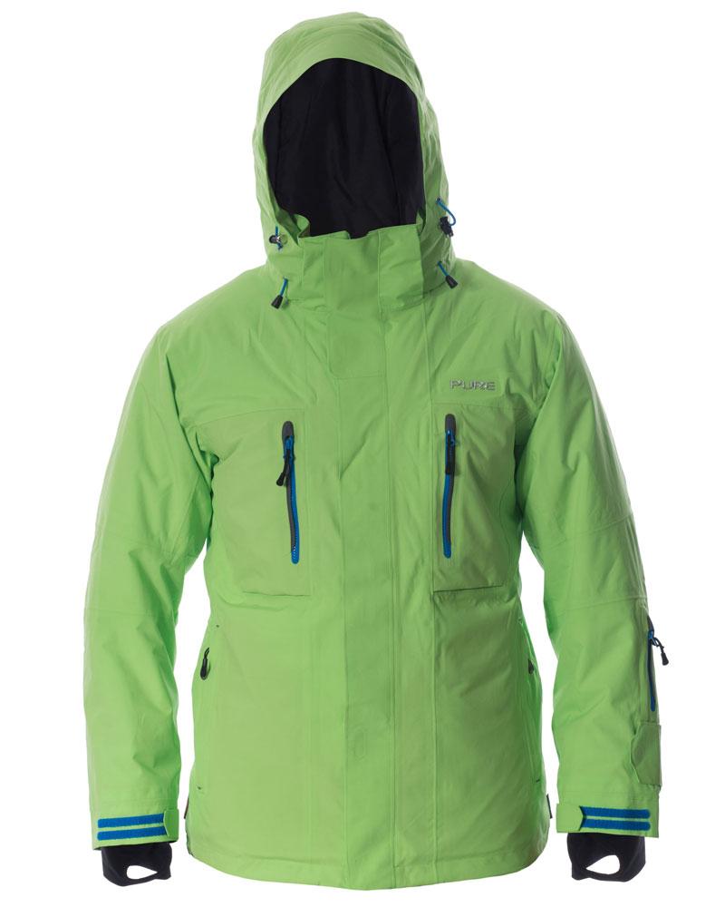 Niseko Men's Jacket - Green / Notice Zips