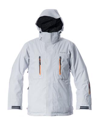 Niseko Men's Jacket - Silver / Orange Zips