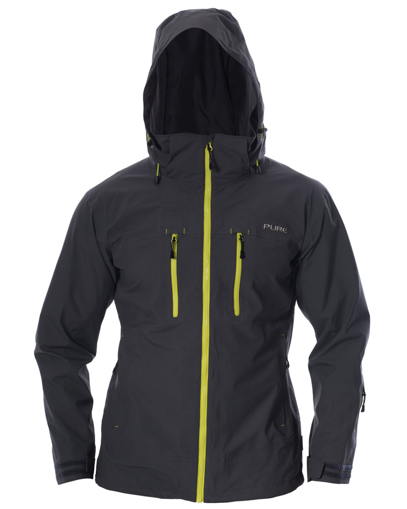 Everest Men's Jacket - Ebony / Lime Zips