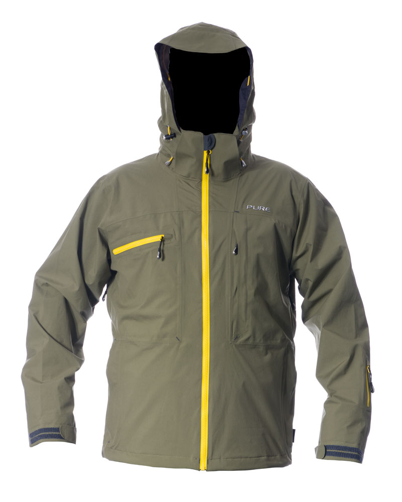 Kilimanjaro Men's Jacket - Khaki / Yellow Zips