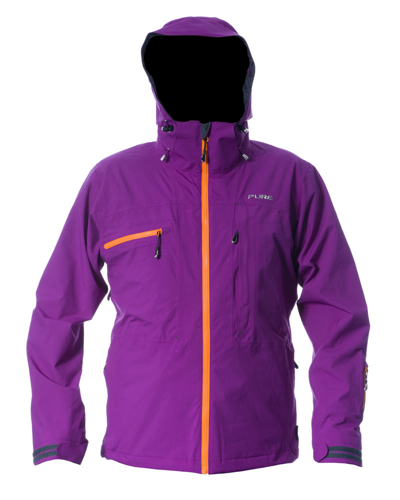 Kilimanjaro Men's Jacket - Grape / Orange Zips