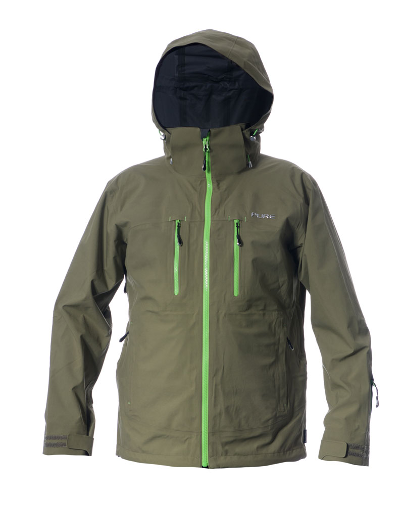 Everest Men's Jacket - Khaki / Green Zips