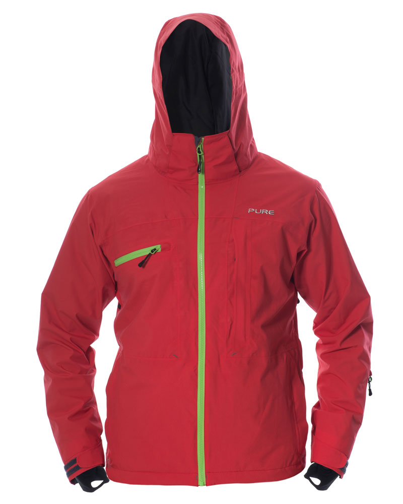Kilimanjaro Men's Jacket - Red / Green Zips