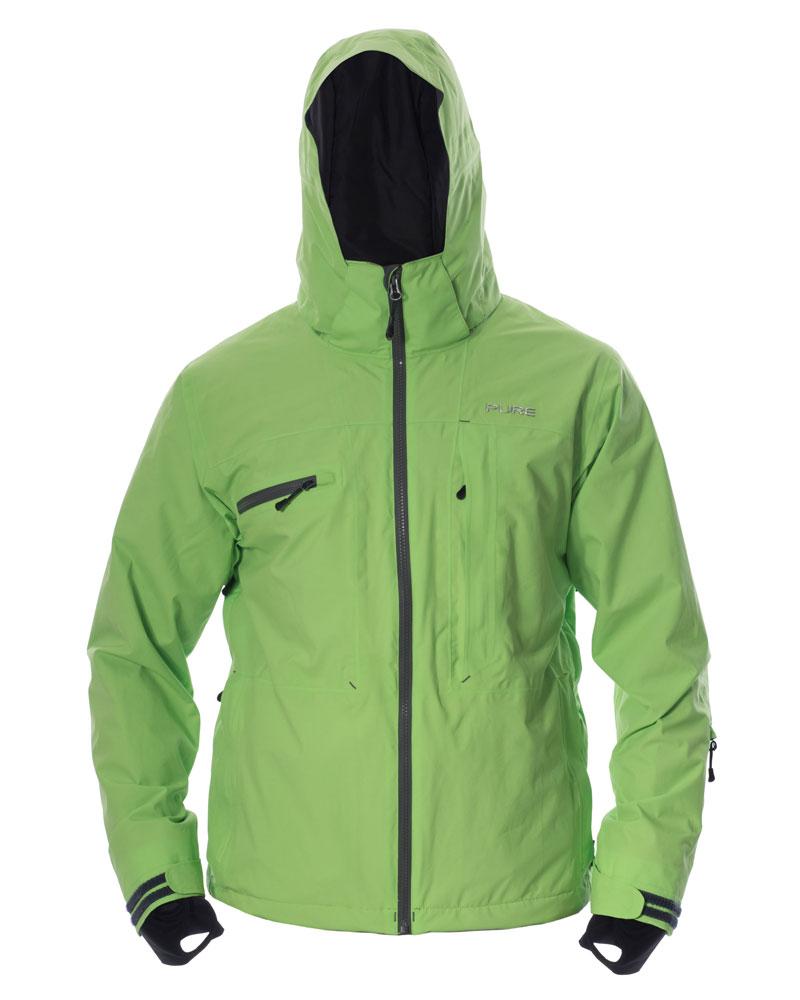Kilimanjaro Men's Jacket - Green / Ebony Zips