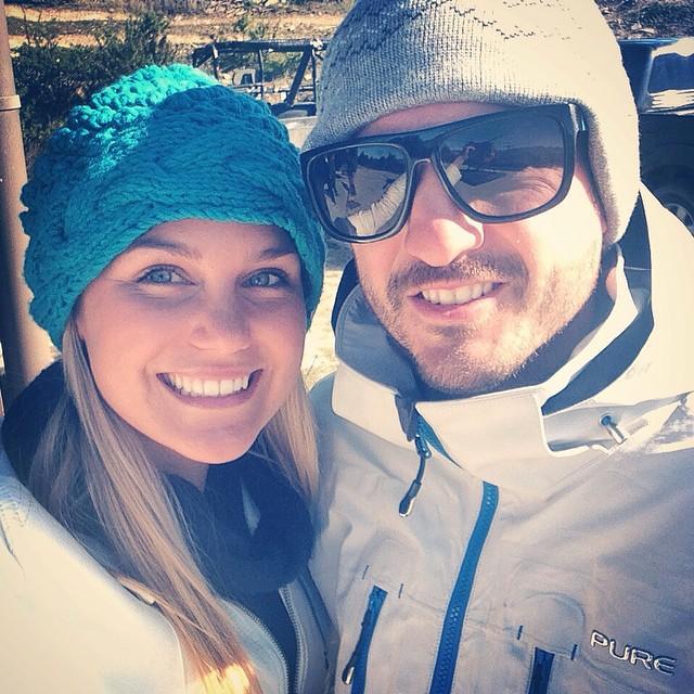 Amber & Karl enjoying the US winter
