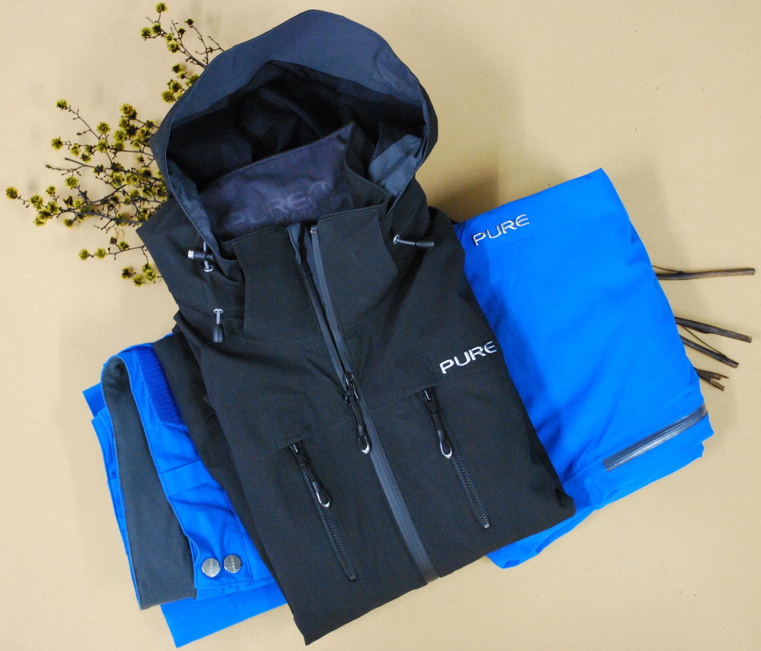 Pure Brandz black jacket & blue pant