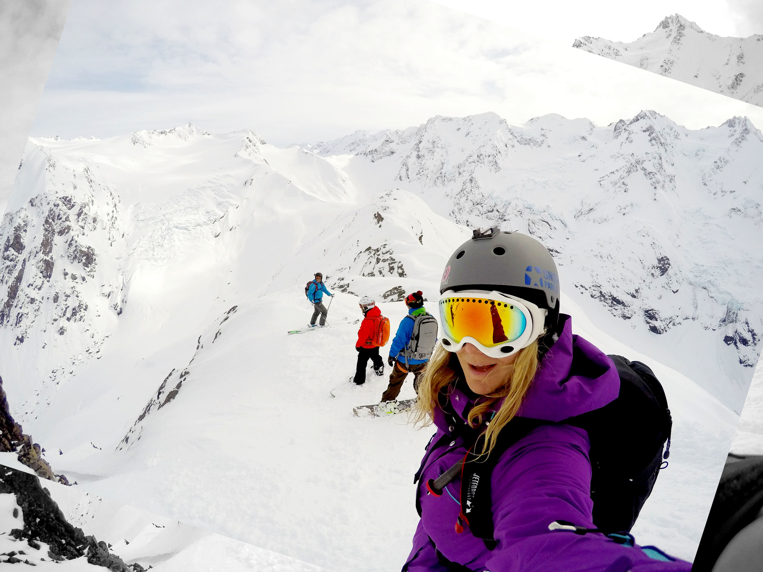 """The Chugach mountains, Alaska..... The Pacific Ocean behind me and 4000ft of steep, stable powder under my feet. I feel in love again!"" - Alexa Hohenberg"