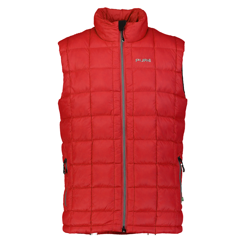 Pure Mountain Helsinki Puffer Vest - Red