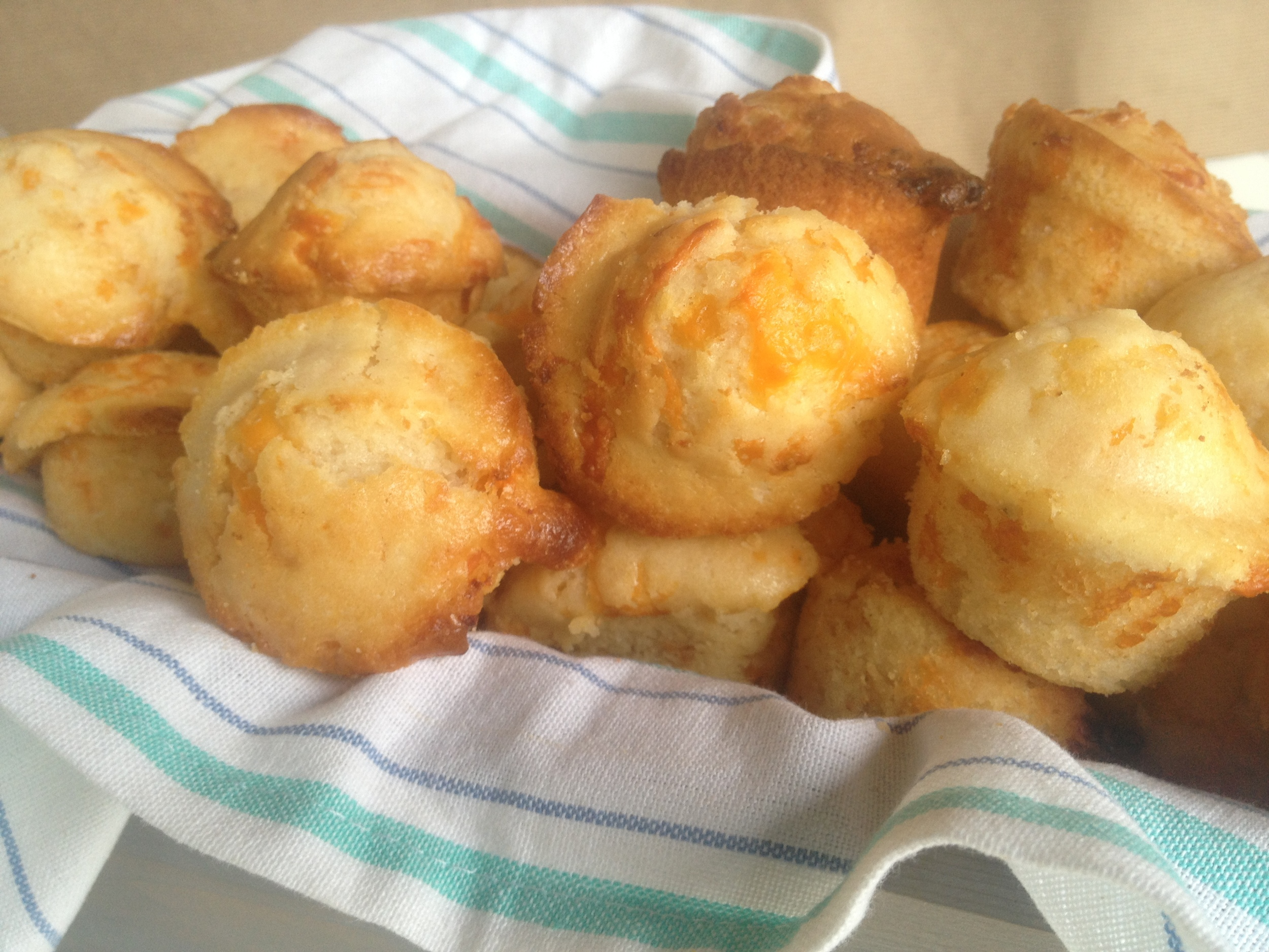 A southern classic; Bacon Cheese biscuits are kinda like muffins but I call them biscuits because to me, muffins are always sweet.