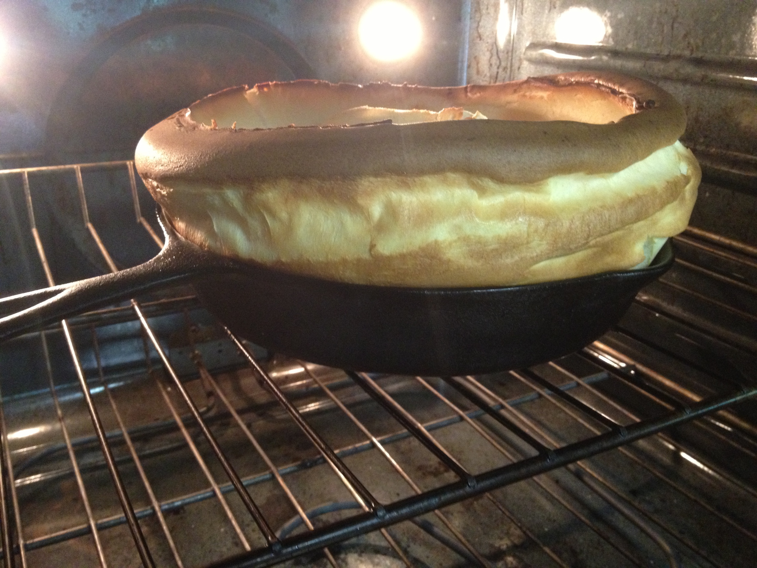 So I learned after a few attempts to lower the rack before you start baking so the edges do not burn.