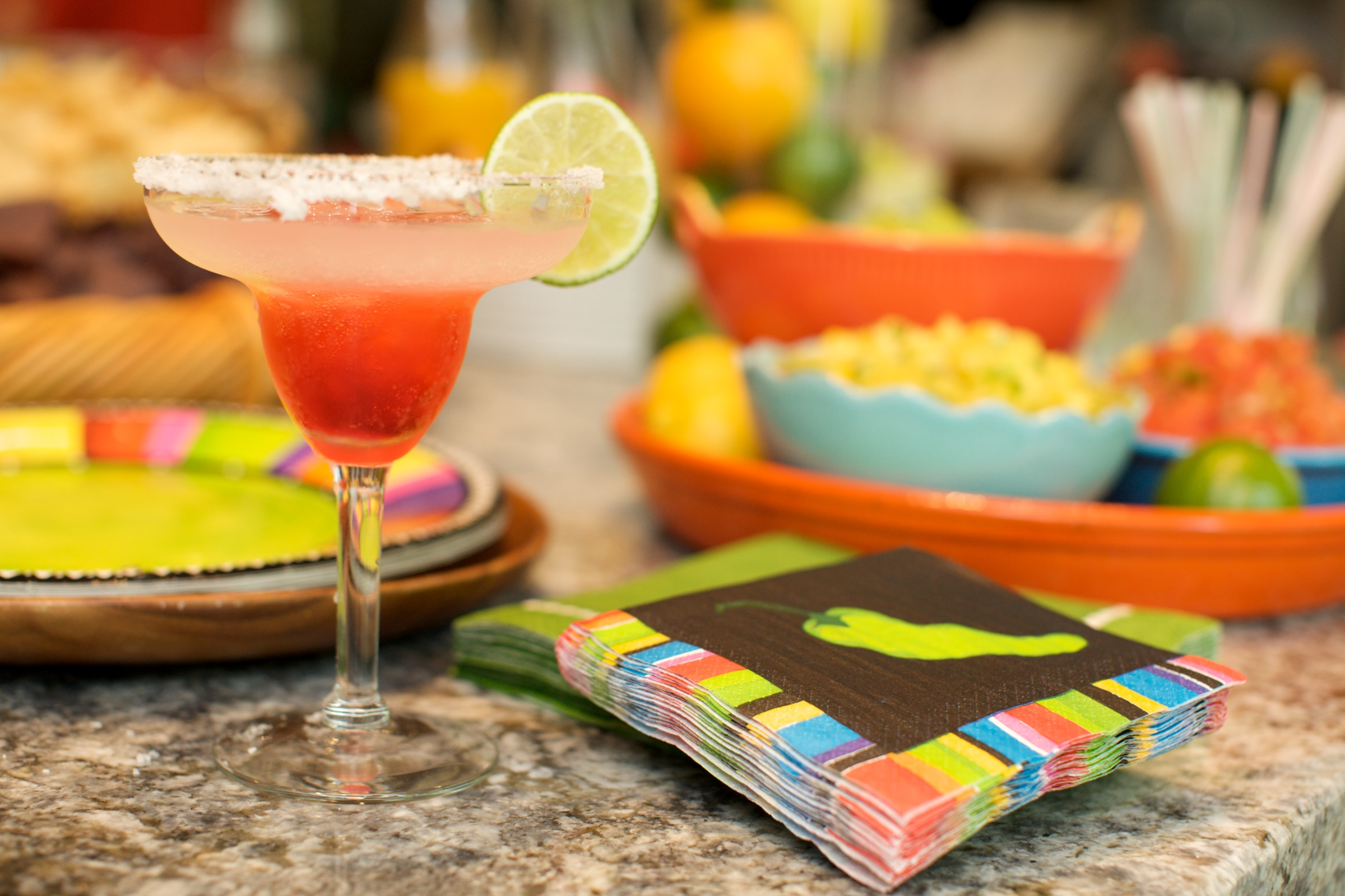 You just cannot go wrong with a Mexican theme. Everyone loves a margarita and Mexican food is very easy to make or to get.