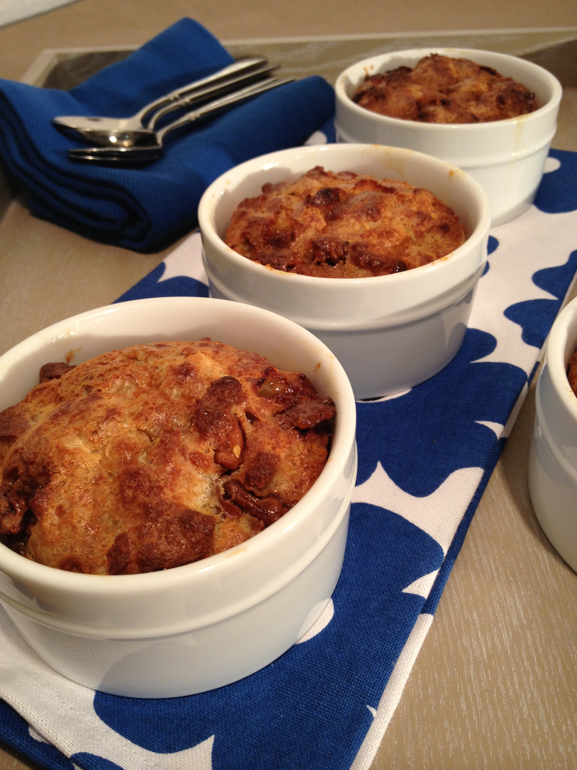 White Chocolate Almond Bread Pudding is easy and always a hit!