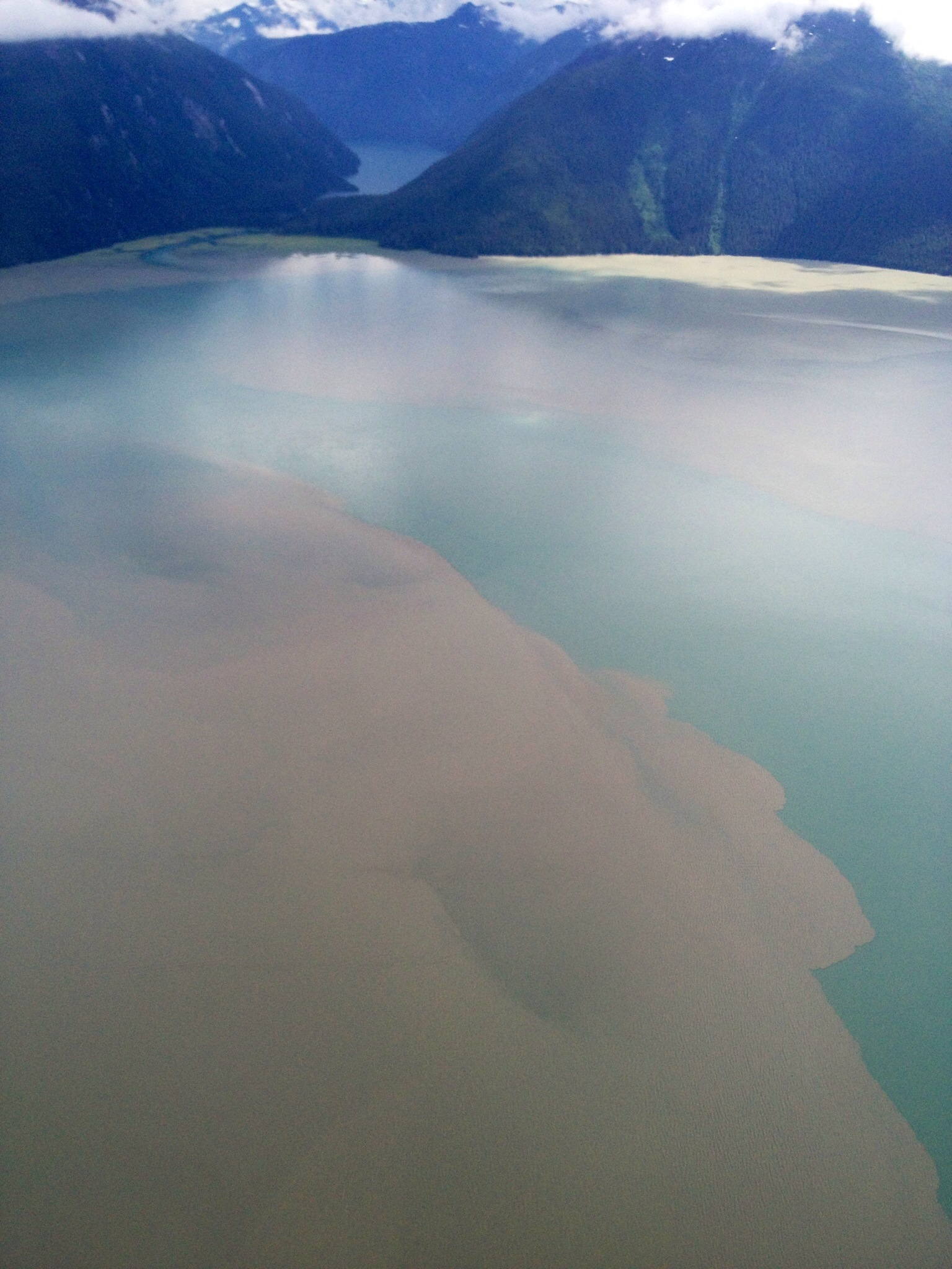 I loved the pale aqua color of the water against the ice from the air. Breathtaking.