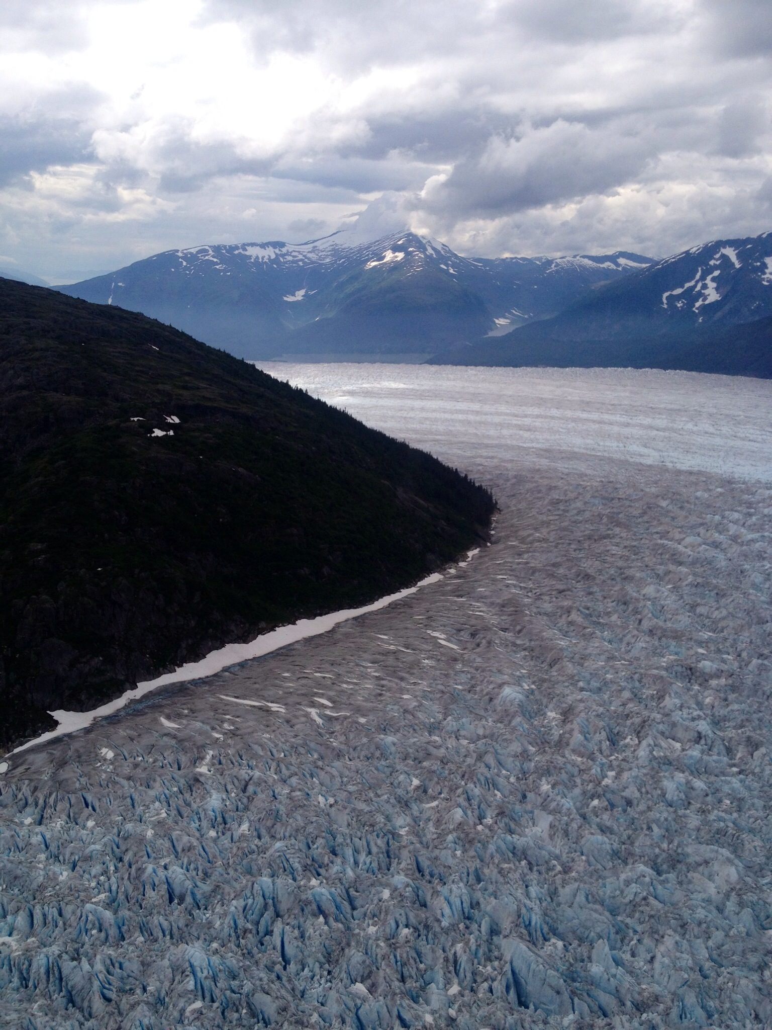 Glacier images from the seaplane... notice the blue color in the ice.