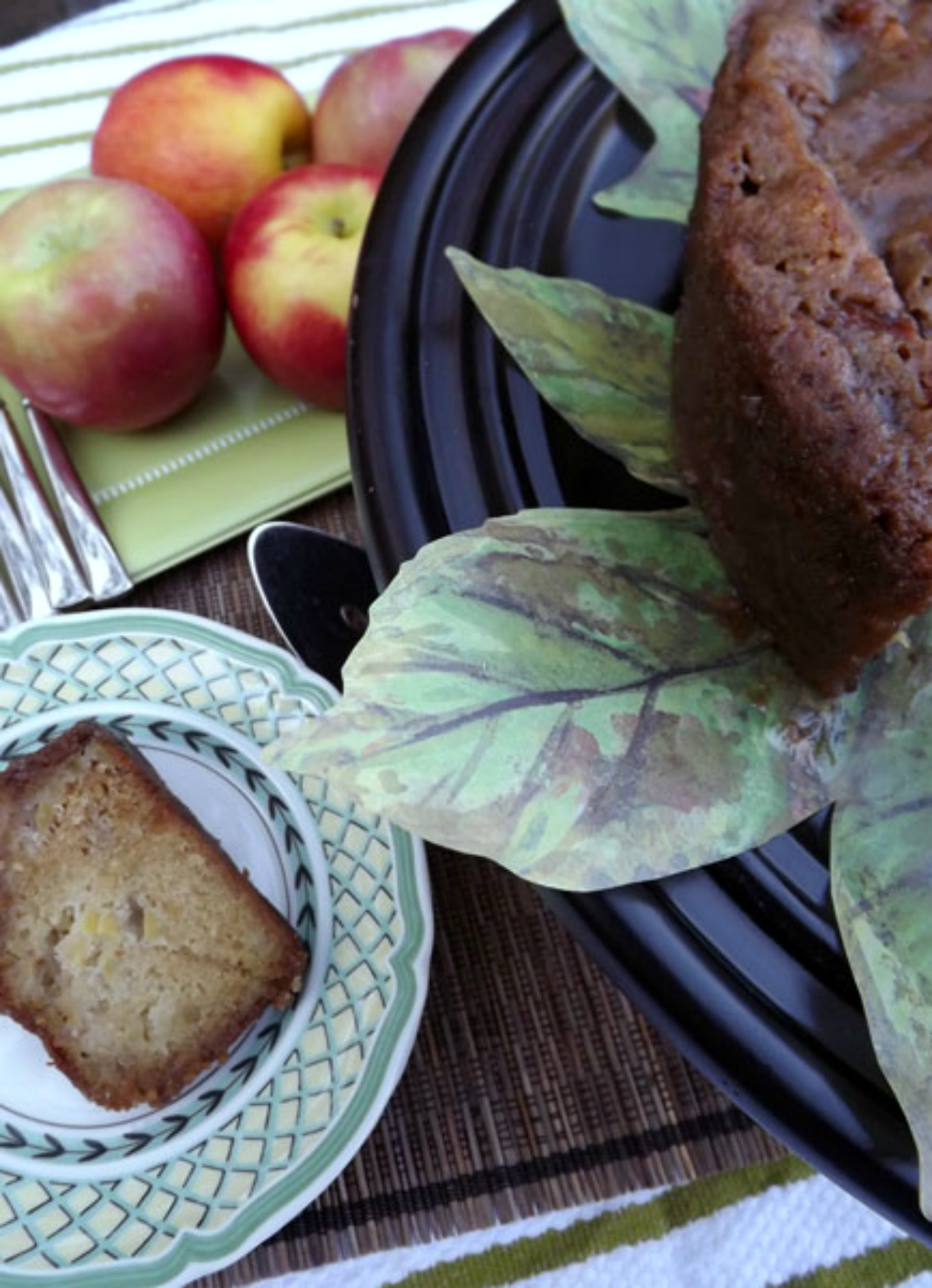 Caramel Apple Cake is a wonderfully easy cake to make for fall tailgates, festivals, or Saturday morning coffee.