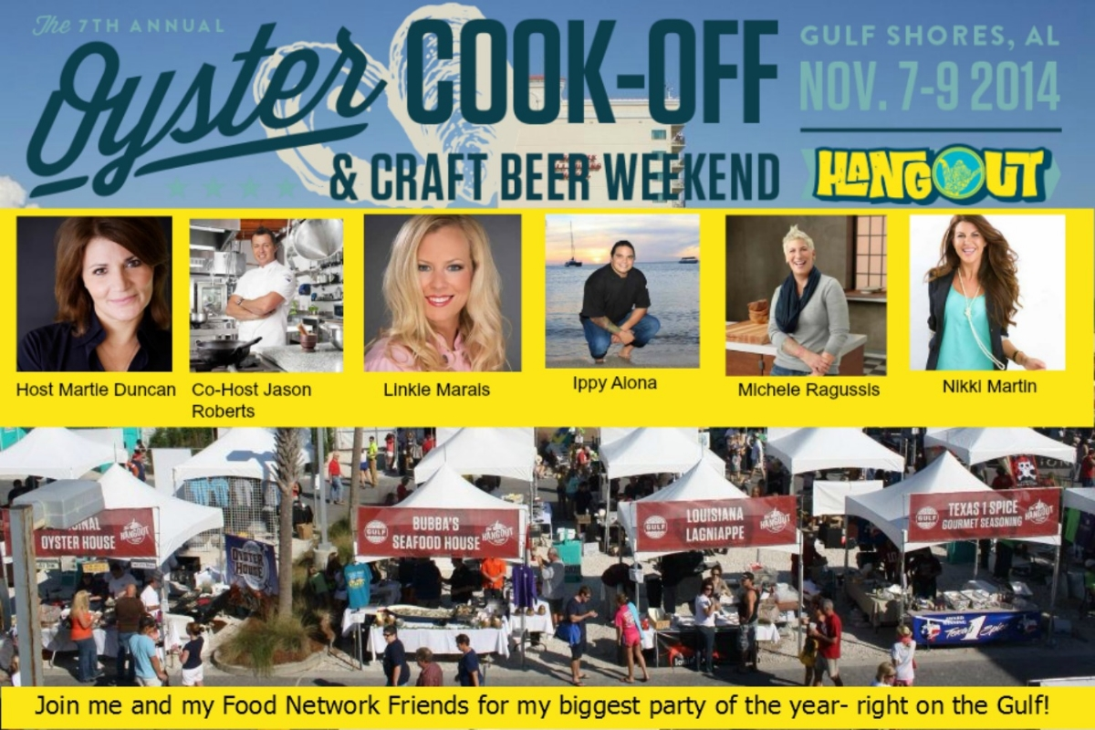 Come to the 2014 Hangout Oyster Cookoff November 7th-9th! We kick it off with a Craft Brew Festival on Friday night and wrap it all up with a Sunday brunch. Come hang out with us and enjoy the Gulf at the very best time of the year.