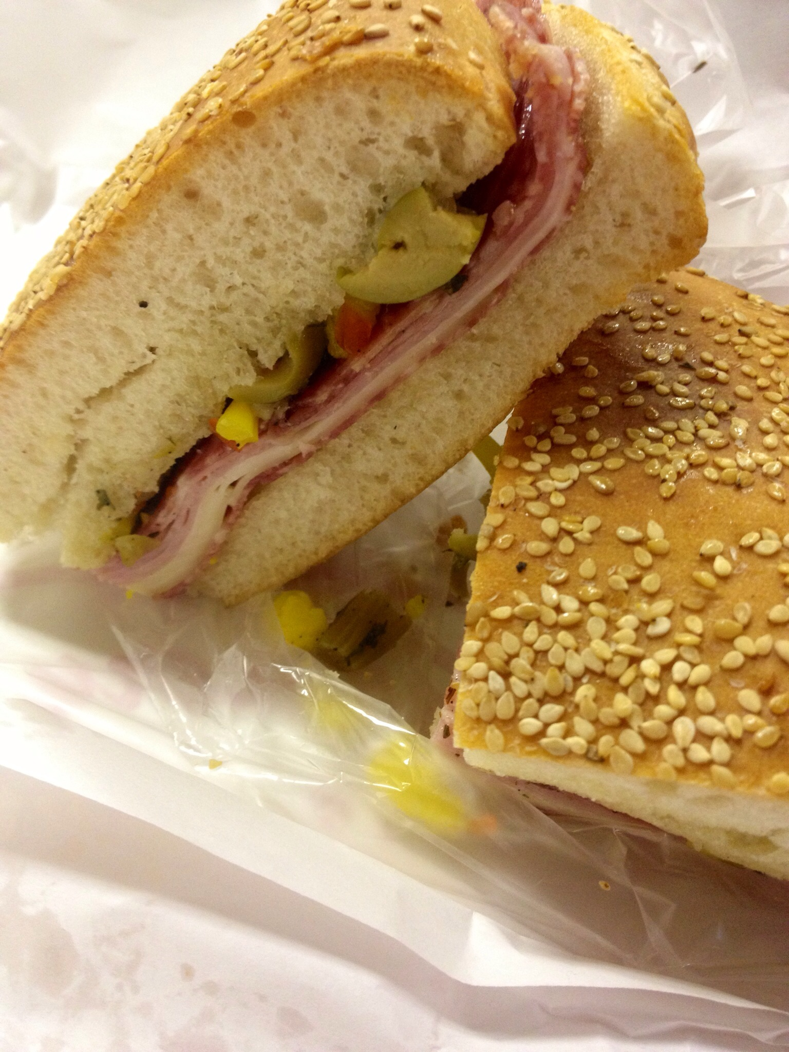 New Orleans must have muffuletta sandwich from Central Grocery