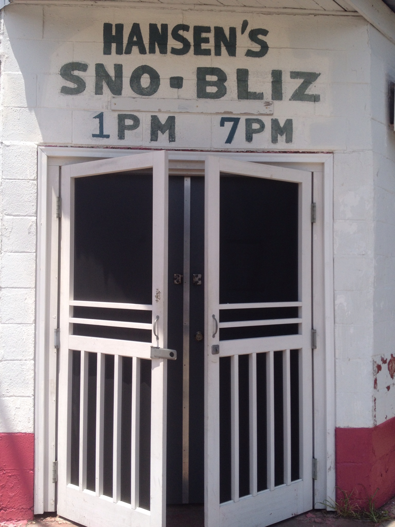 Hansen's Sno Bliz in New Orleans home of the original snow ball
