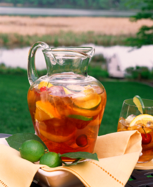 While traditionally made with red wine Sangria can be made with any variation of fruit and wine including sparkling white wine, Prosecco, or Cava. Change the fruit and the wine choice to the season.