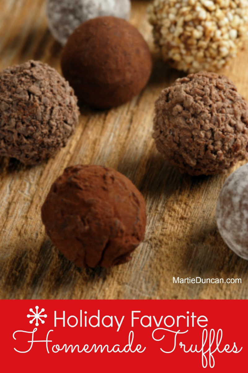 Make homemade chocolate truffles for your next party or to give to someone special on Valentine's Day. They are simple to make, delicious, and best of all, you can make them in your favorite flavors.