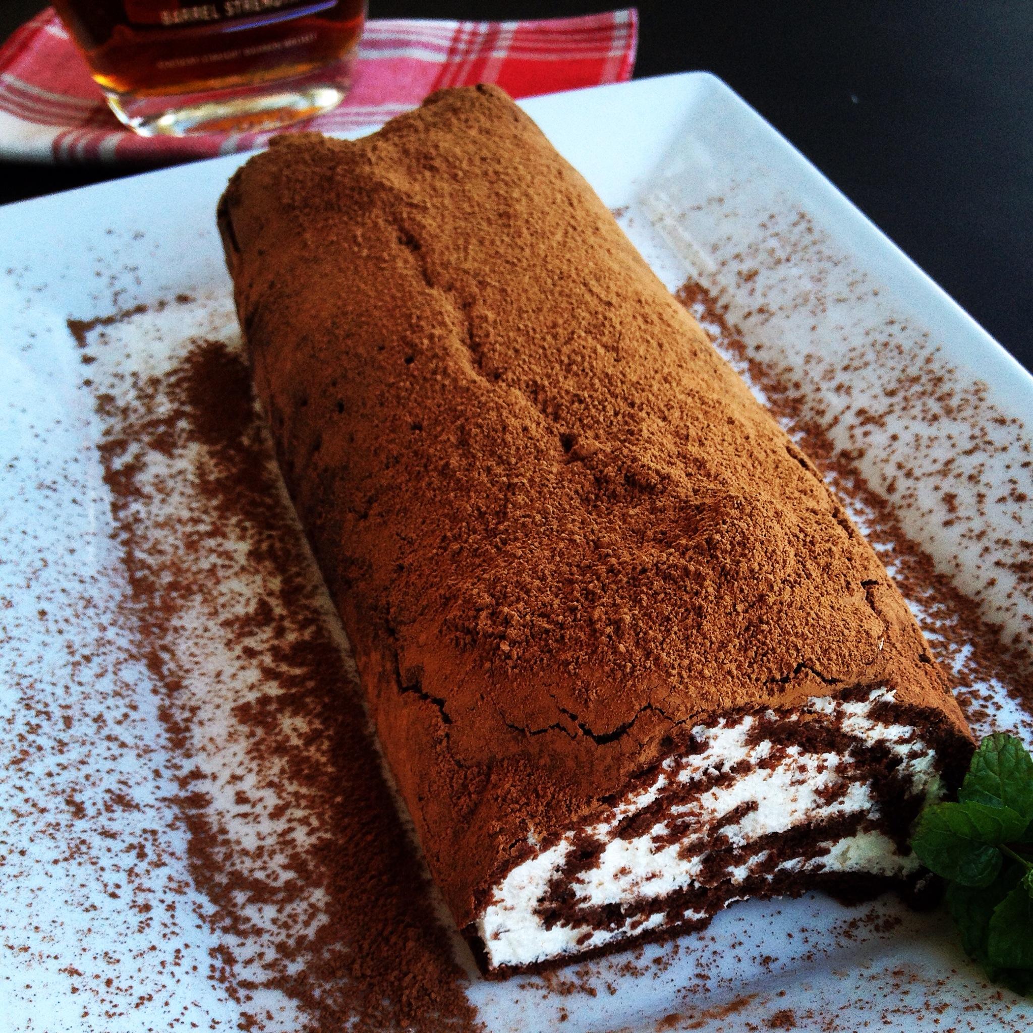 chocolate roulage roulade Christmas cake yule log recipe MartieDuncan.com