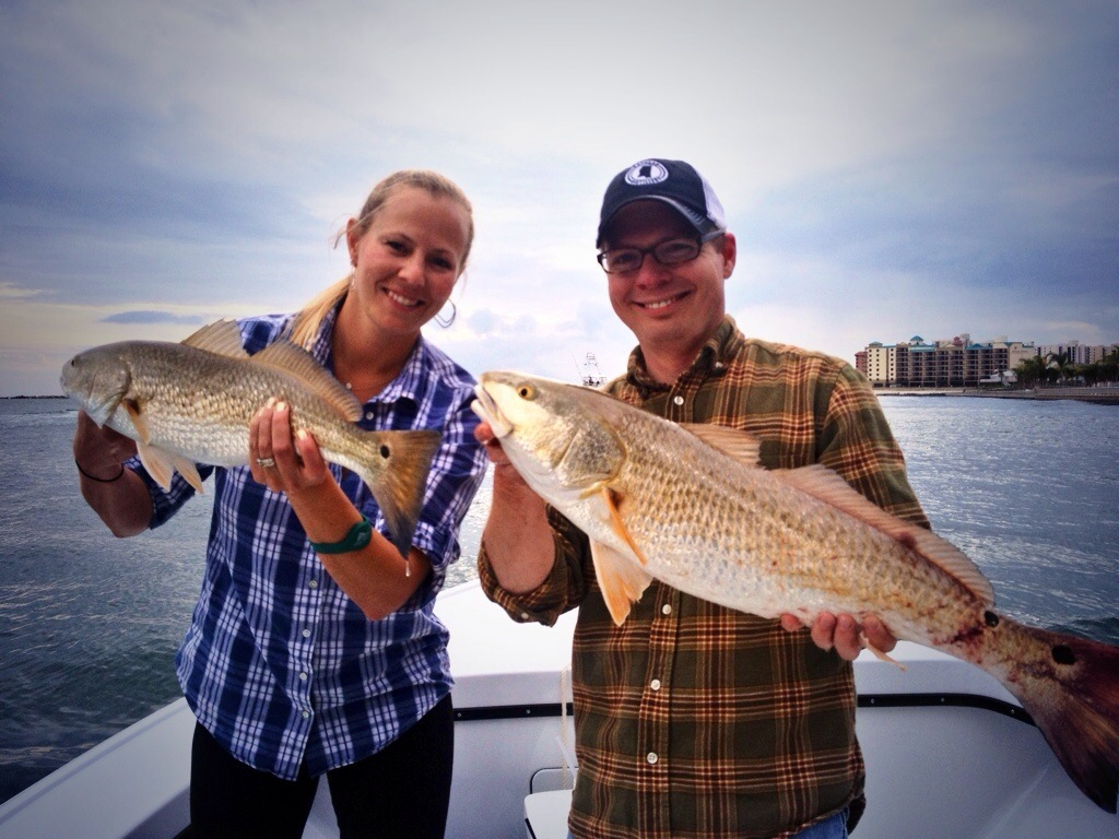 Linkie Marais catching redfish on the Alabama Gulf Coast Martie Duncan