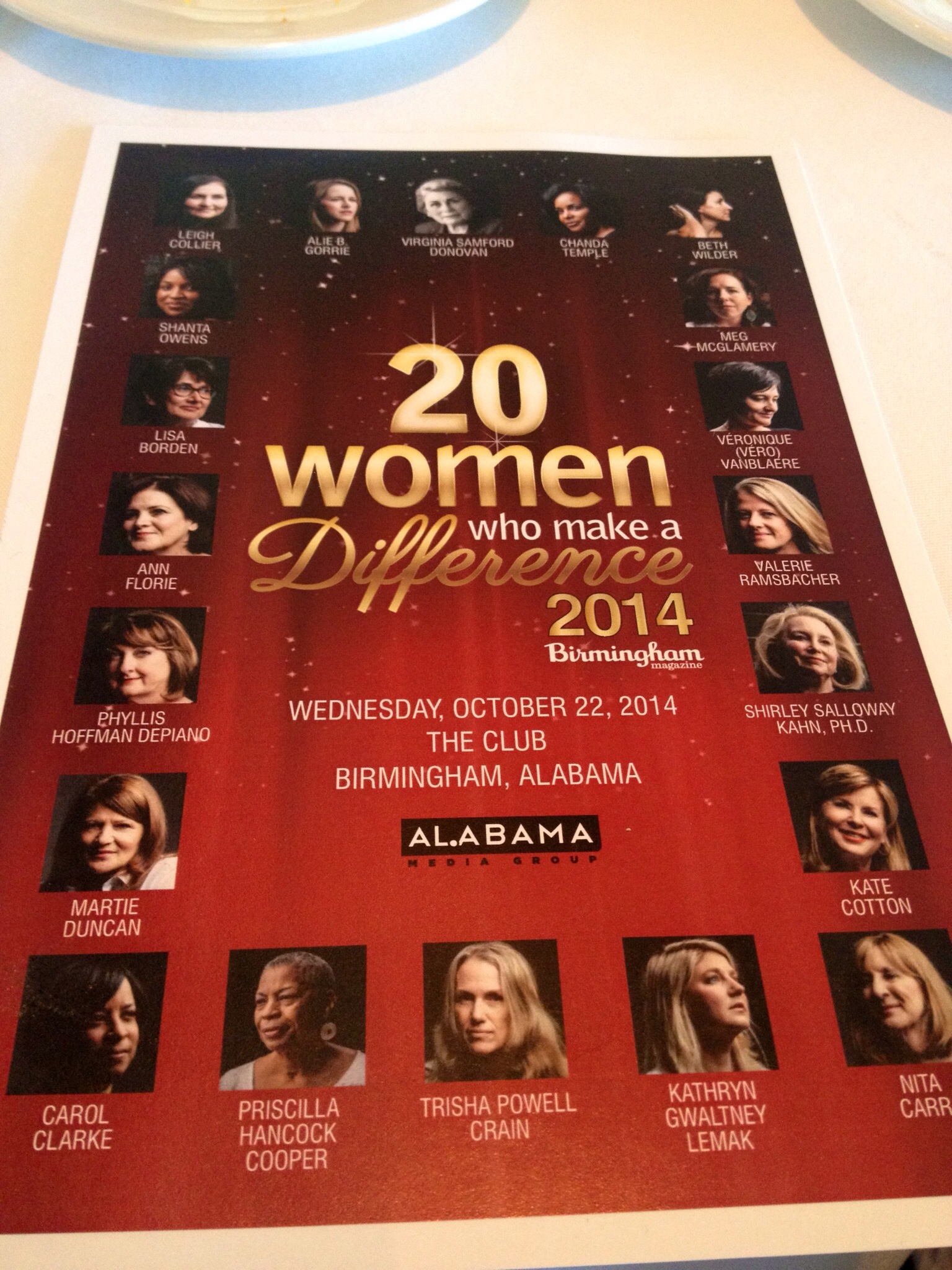 20 women making a difference Birmingham Alabama 2014 class Martie Duncan