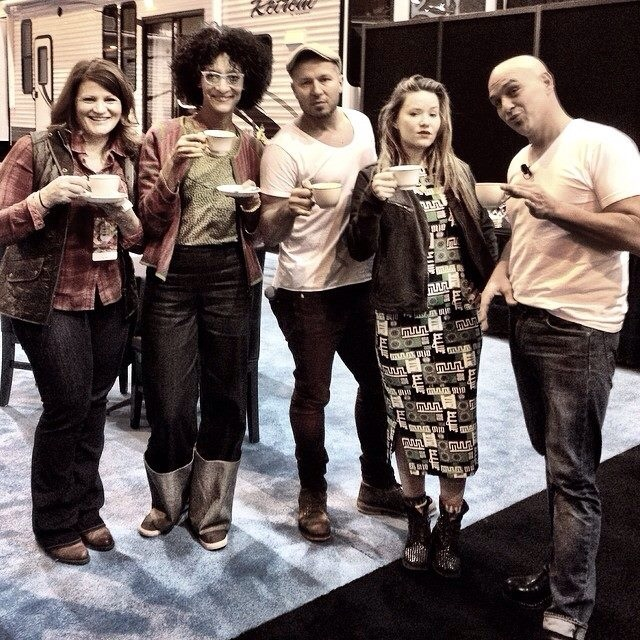 Martie Duncan, Carla Hall, Jason Roberts, Nadia G, and Michael Symon Fabulous Food Show 2014
