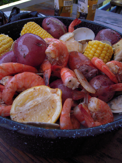 one pot seafood boil for a party MartieDuncan.com