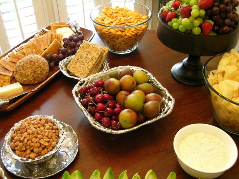 Offer a variety of healthy but delicious snacks for your Super Bowl party