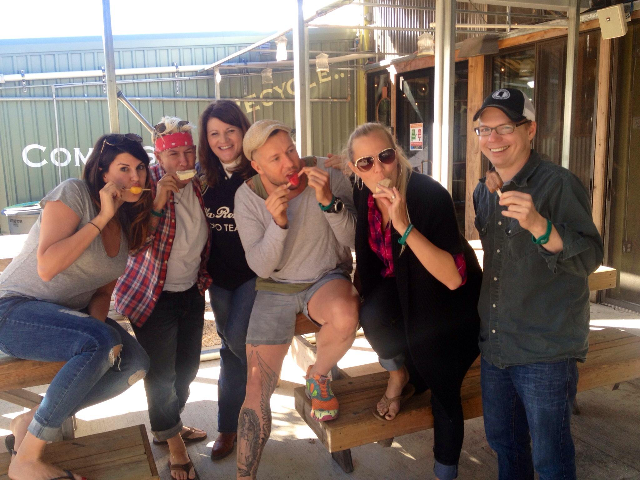 Food Network Stars in Fairhope, Alabama Frios Popsicles