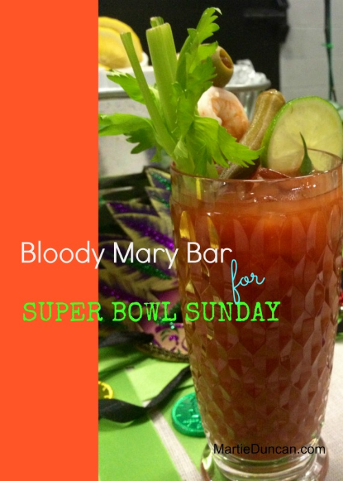 how to build a bloody mary bar for the Super Bowl