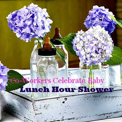 co worker lunch hour shower ideas