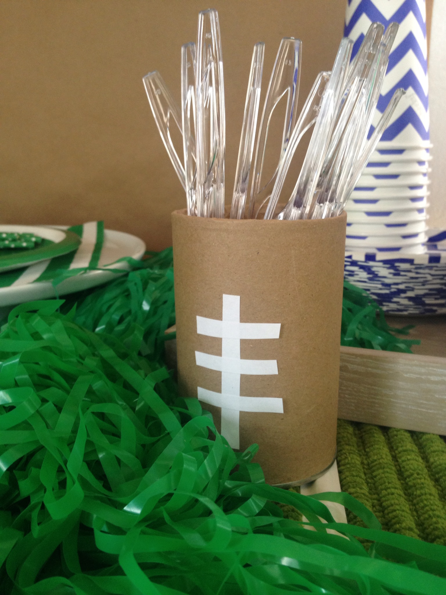 easy to make football theme crafts
