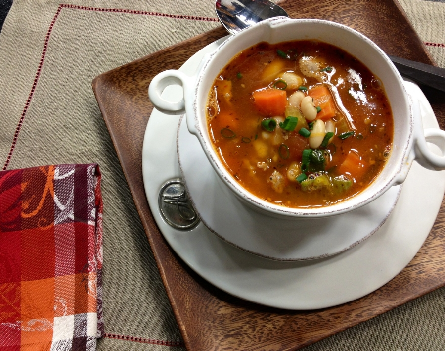 Easy and so much flavor... try my Sausage, White Bean, and Escarole Soup- I promise it will become a cold weather favorite!