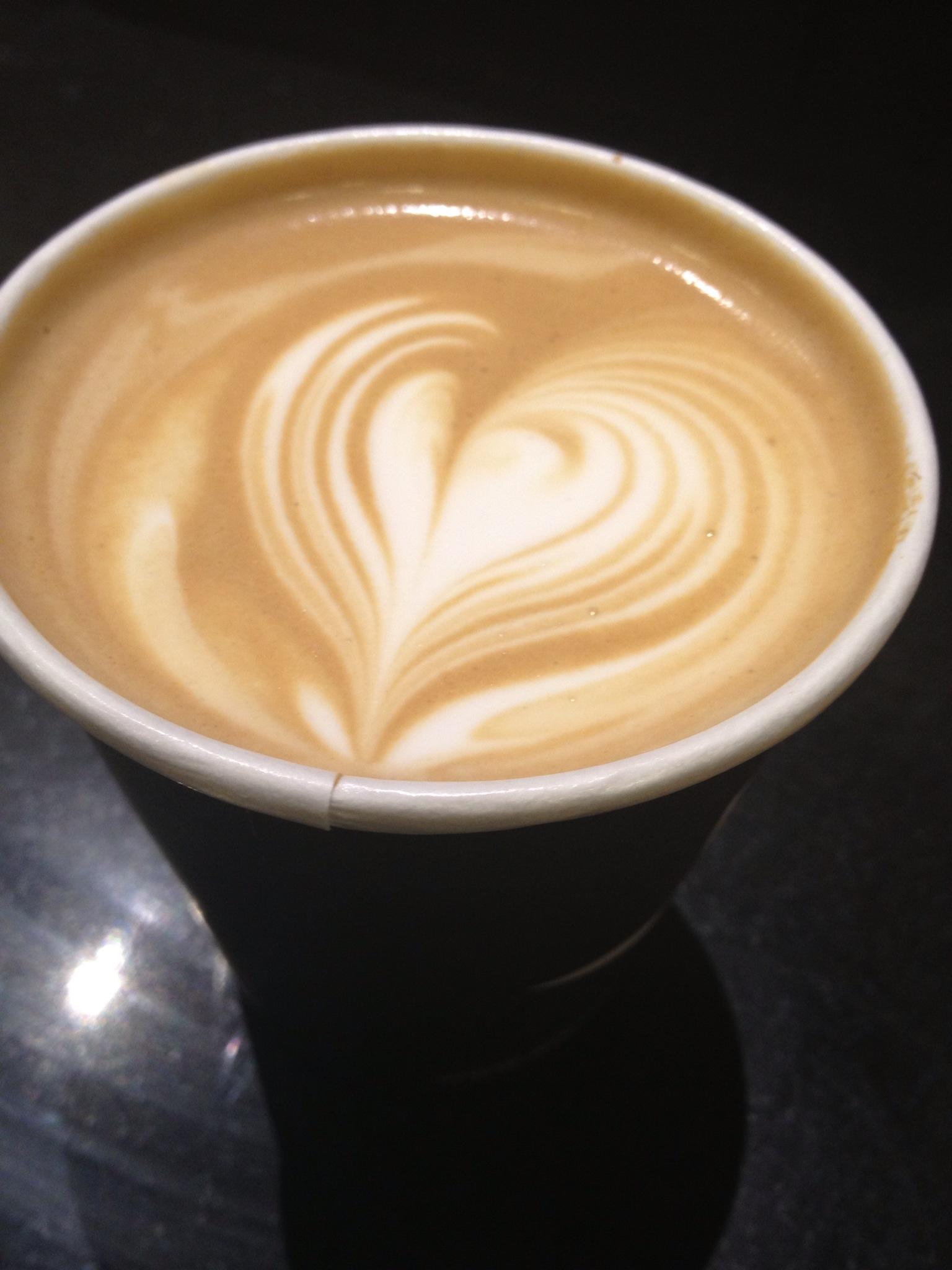 make a coffee design with milk