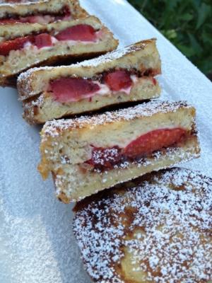 Strawberry Nutella Stuffed French Toast recipe