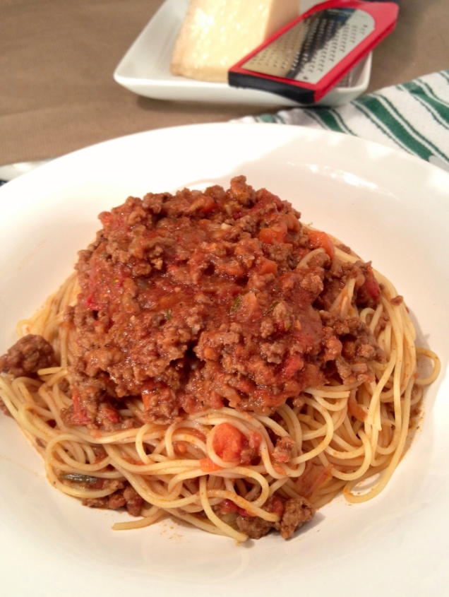 Hearty Beef Bolognese over pasta