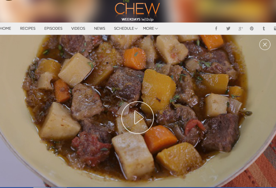 Chef Michael Symon's slow cooker recipe for his spin on a classic beef stew with root vegetables from an episode of ABC's The Chew.