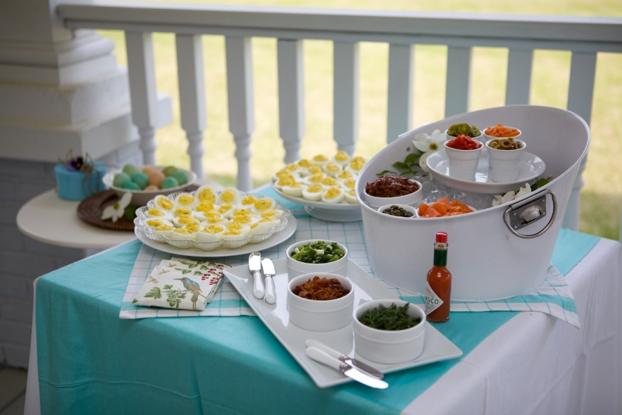 How to build a deviled egg bar with toppings. Photo: Arden Photography Location: The Sonnet House, Leeds, Alabama