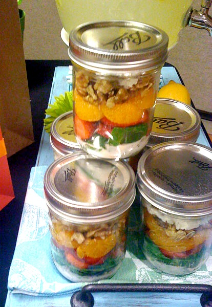 easy to make salad in a jar