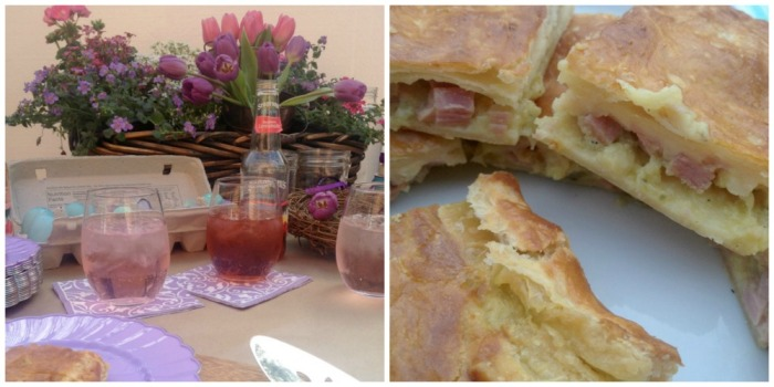 Pretty, colorful drinks and easy food make hosting duties simple!