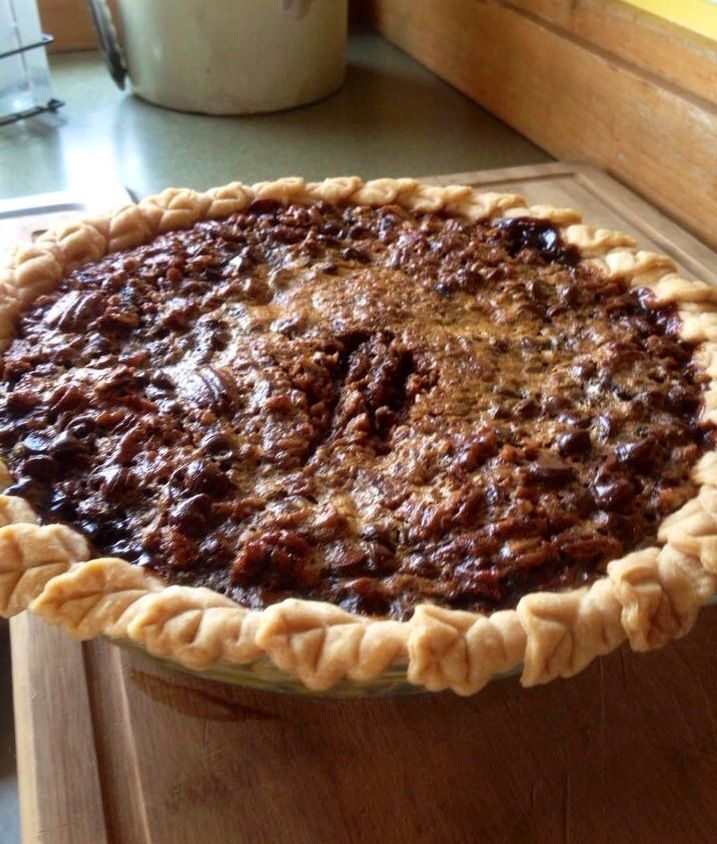 My Food Network Star friend Emily Ellyn's sister Molly sent me this photo of my Chocolate Bourbon Pecan Pie after she made the recipe. Mollyraved about it... and this family knows food and knows how to cook! Yay!
