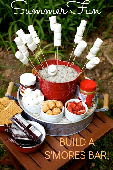 Easy S'mores bar with toppings!