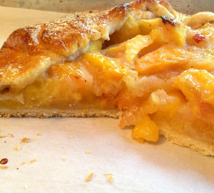 Homemade fresh peach pie