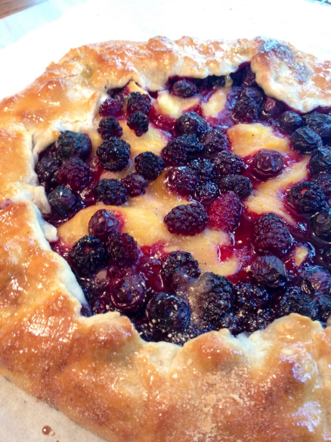 Summer's finest a rustic peach and blueberry pie