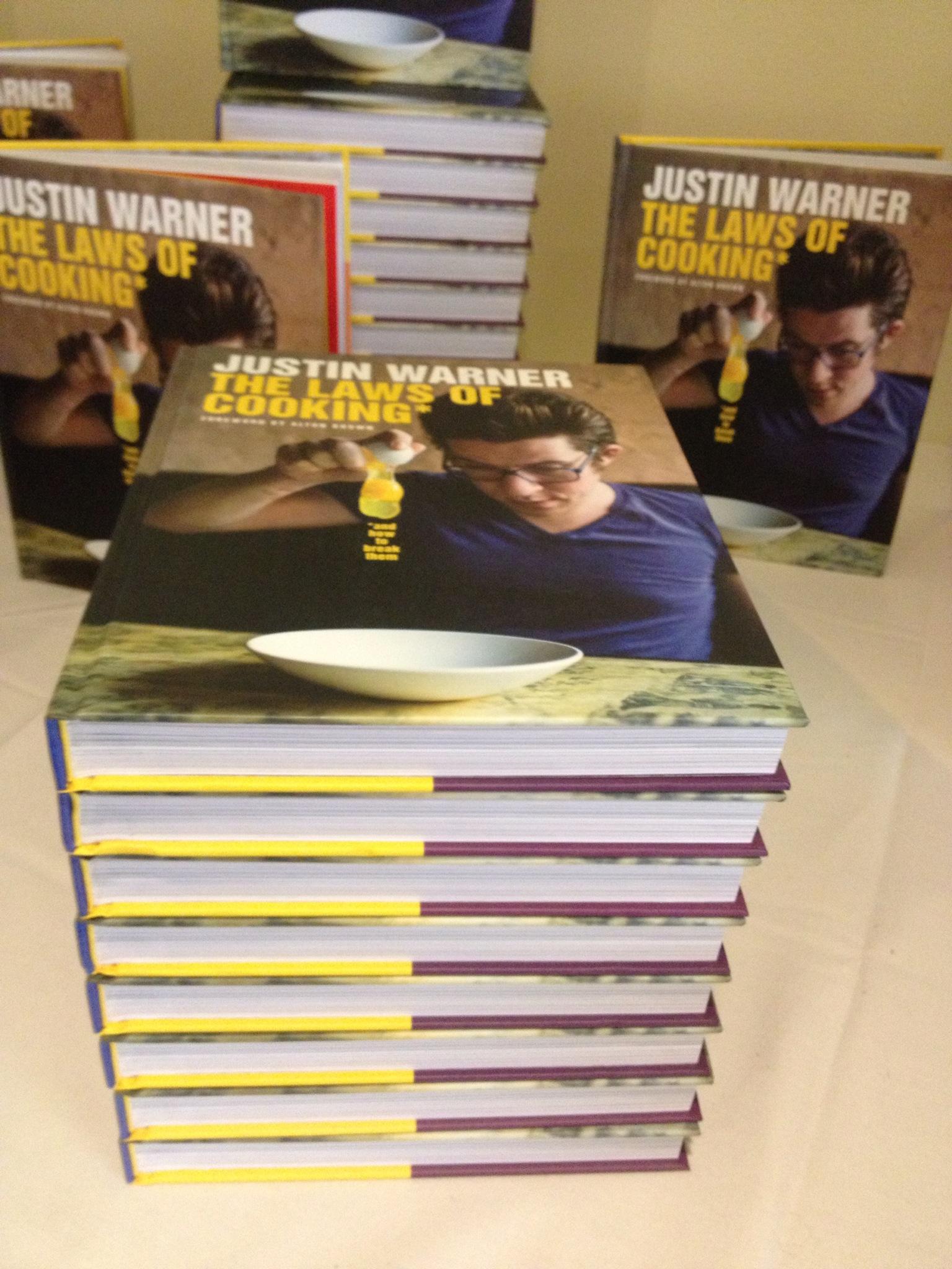 Justin Warner's recent cookbook from Flatiron Press
