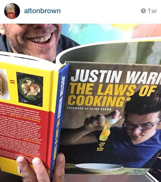 Alton Brown on Justin Warner's book