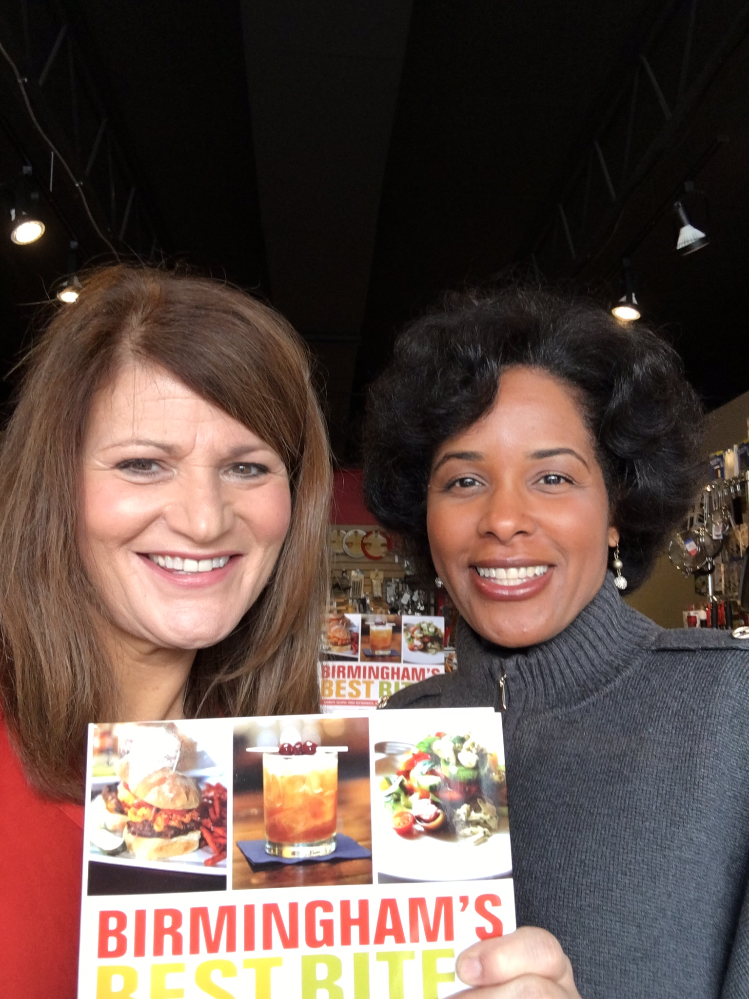 Chanda Temple and I preview our cookbook, Birmingham's Best Bites: Recipes from Birmingham's Restaurants, Bars and Food Trucks